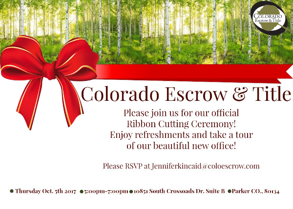 Parker Ribbon Cutting - Colorado Escrow and Title